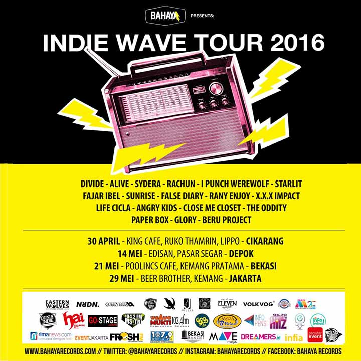INDIE WAVE TOUR 2016