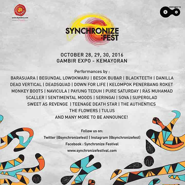poster SyncFest Lineup Phase 1 KOTAK