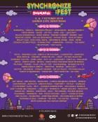 114 Nama Artis Sudah Diumumkan Akan Tampil di Synchronize Fest2018