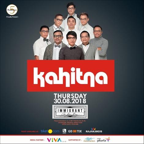 PANDAWA 5 KREASI Hadirkan Live Show KAHITNA di ImmigrantJakarta
