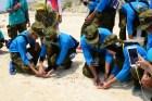 Putera-Puteri Maritim 2018 Lepaskan Puluhan Tukik di Pulau UntungJawa