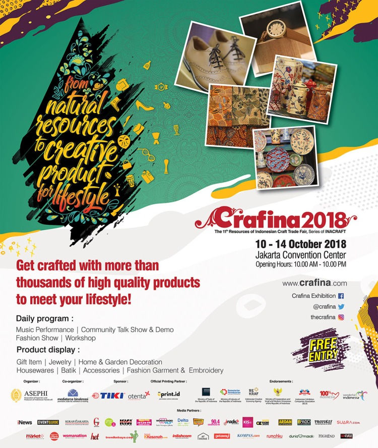 Crafina 2018 The 11th Resources Of Indonesian Craft Trade Fair Go Stage