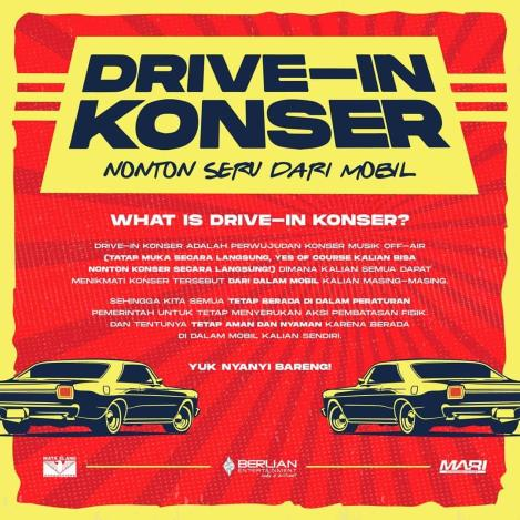 Drive In Konser: Nonton Seru Konser Dari Mobil Persembahan BerlianEntertainment